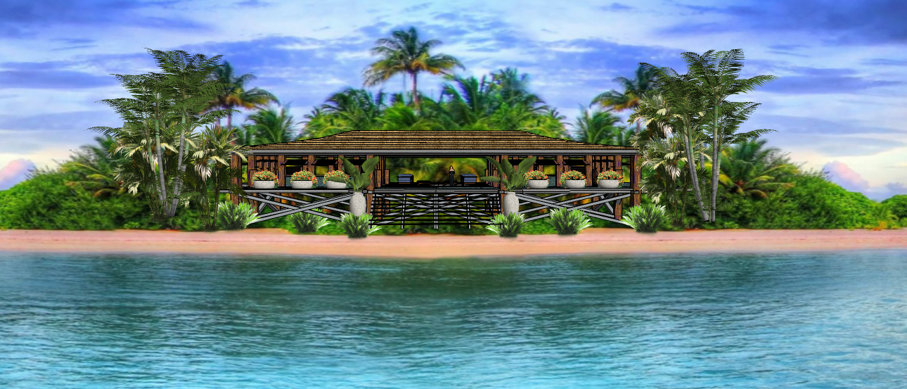 LUXURY BEACH VILLA - WOOD  NATURAL  BEAM