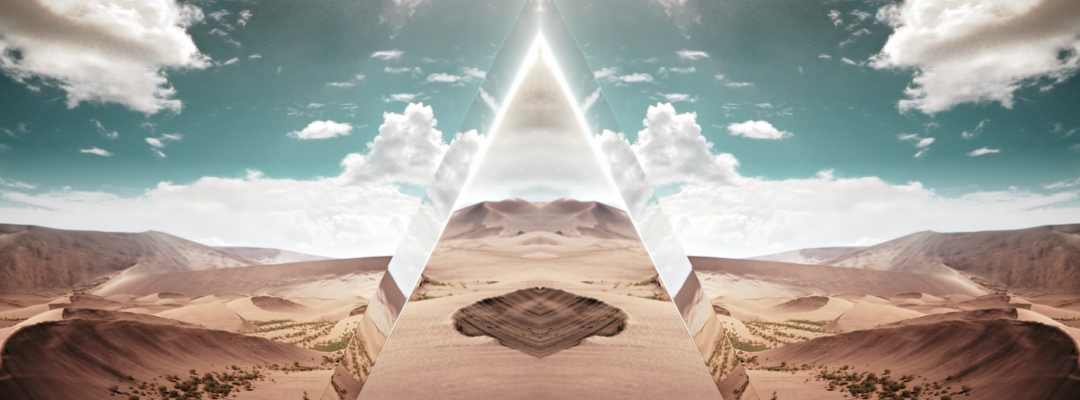 FUTURISTIC GLASS MIRROR PYRAMID DESIGN (