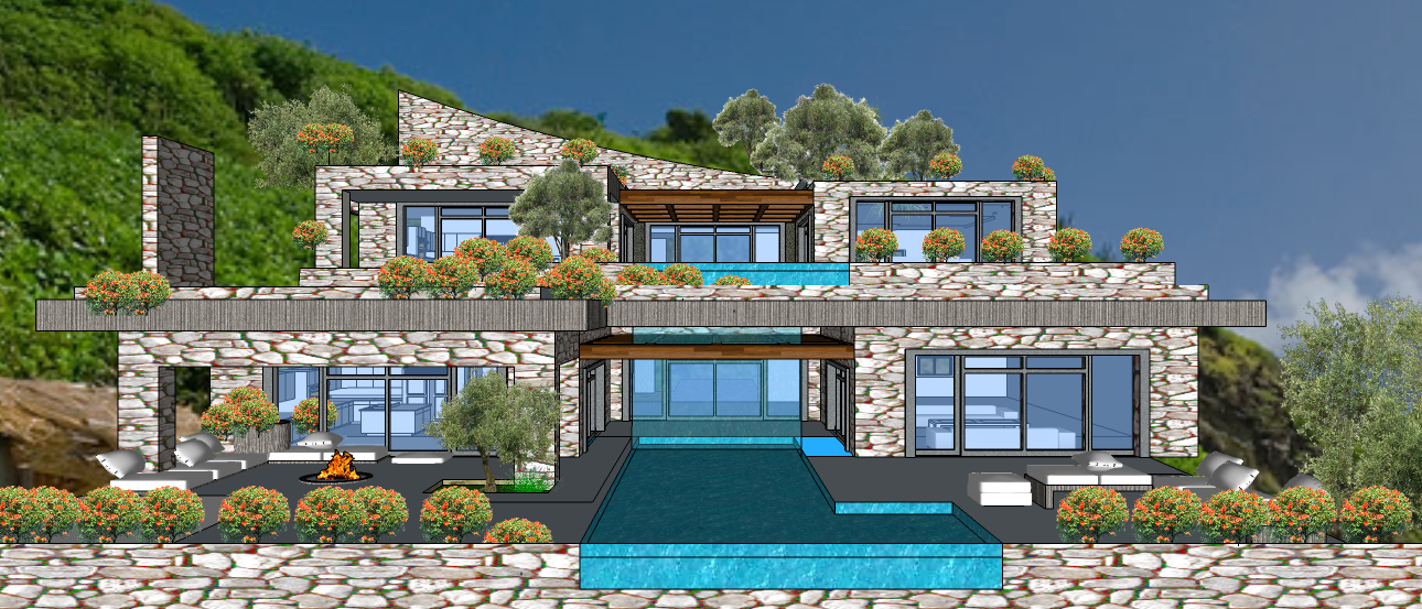 Mykonos  2 LEVEL VILLA VER 1C