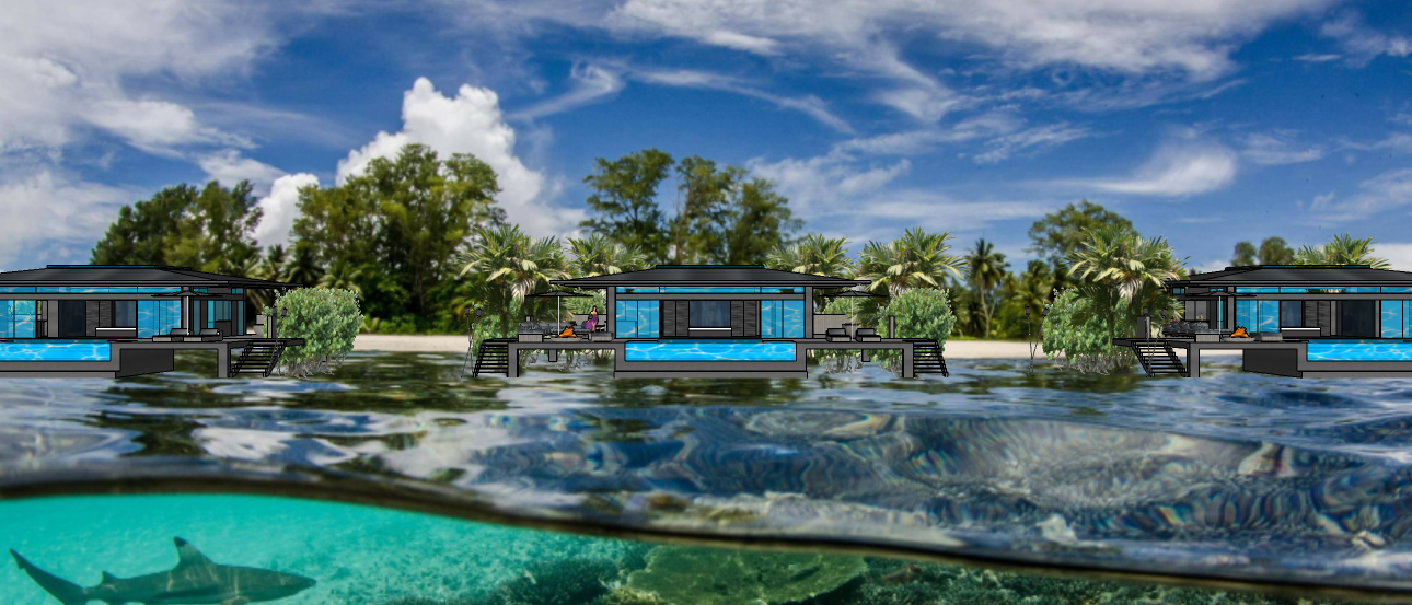 EXOTIC GLASS VILLAS  - PRIVATE ISLAND