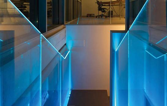 Luminated Glass railing