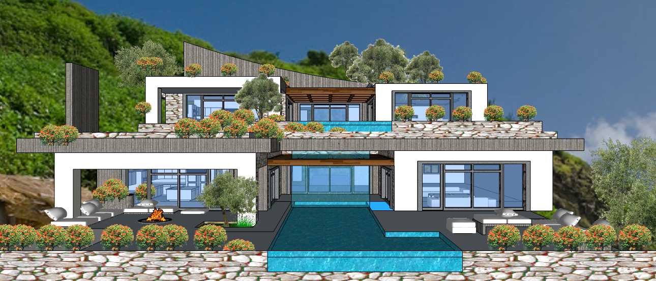 Mykonos  2 LEVEL VILLA VER 1E