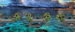 EXOTIC GLASS OVERWATER VILLAS - FLOATING