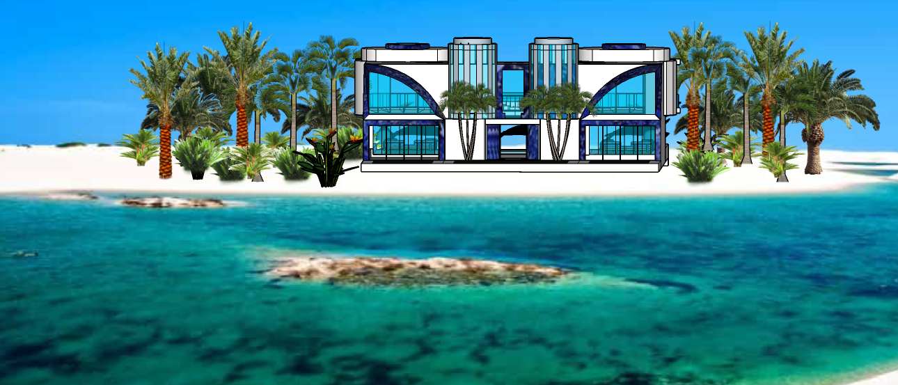 STAR ISLAND GLASS TOWER VILLA1 FRONT SID
