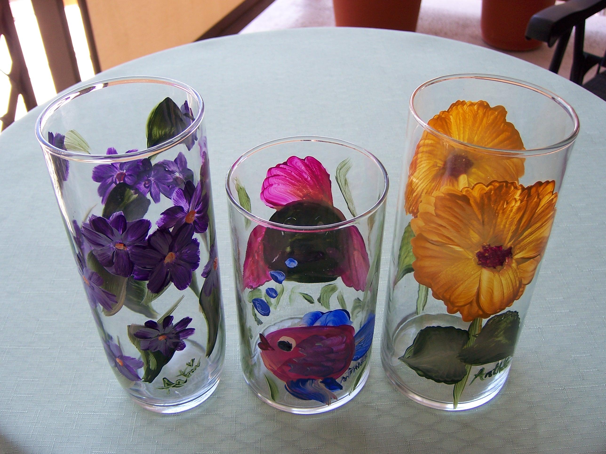Hand Painted Glassware
