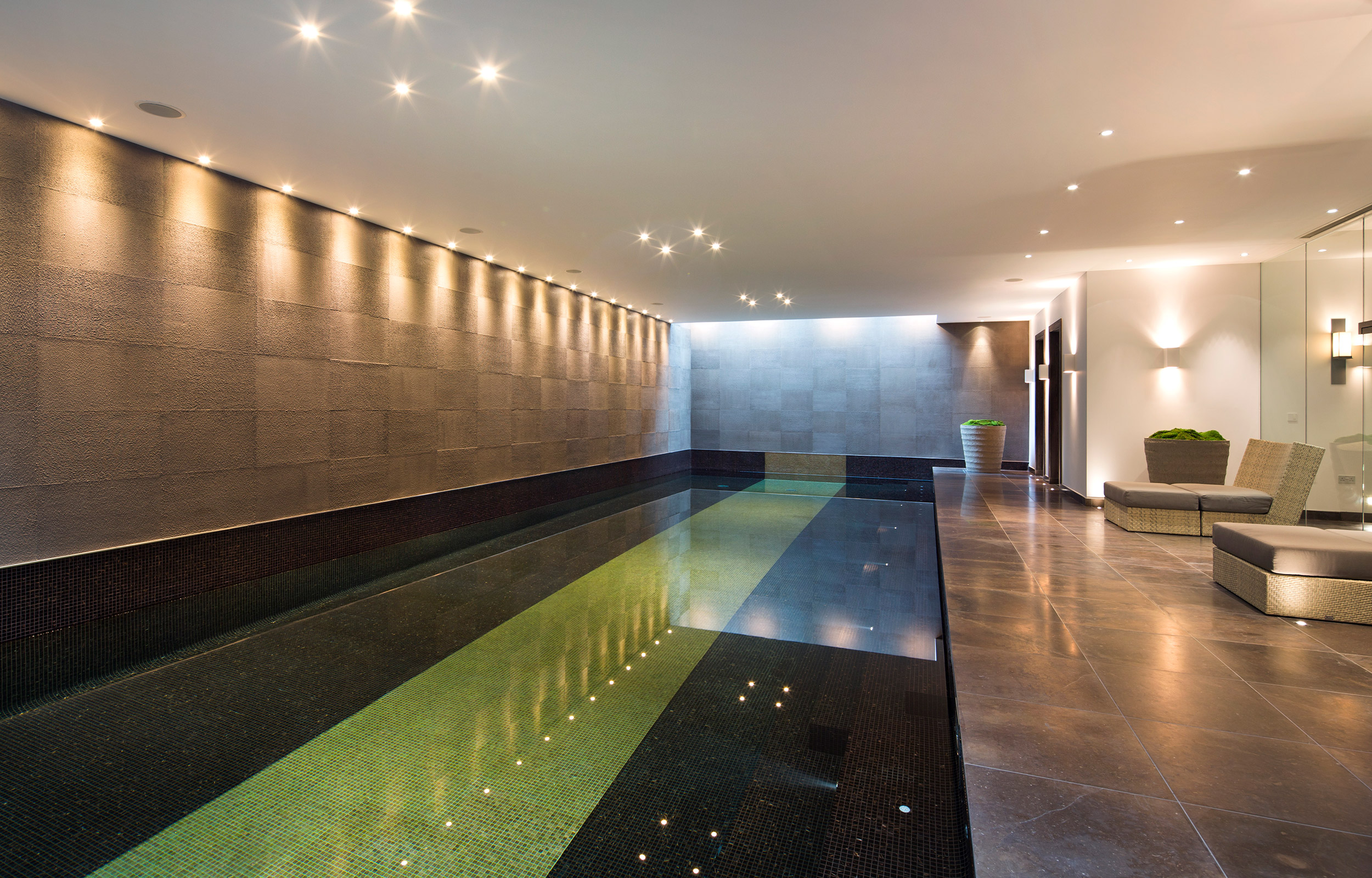 Swimming Pool Lutron Lighting