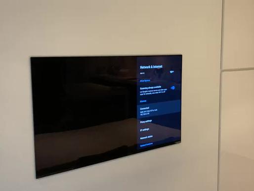 Flush Sony 55 OLED TV Installation
