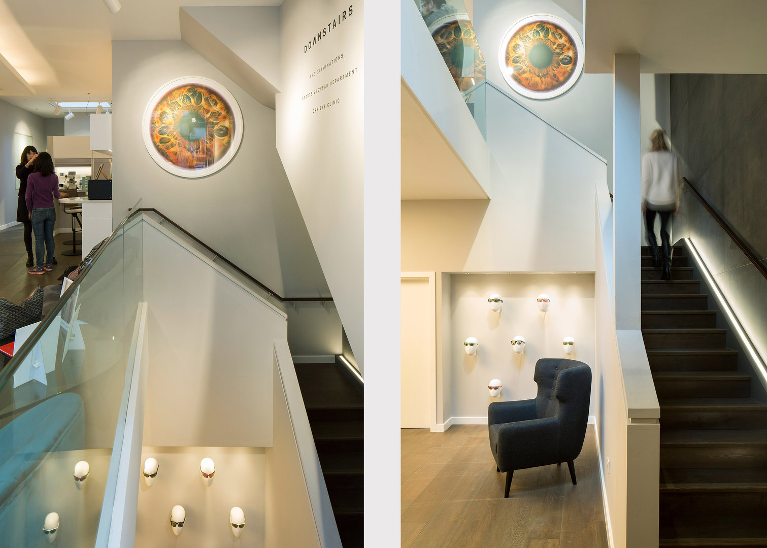 Great Portland Street Lutron Stairs and