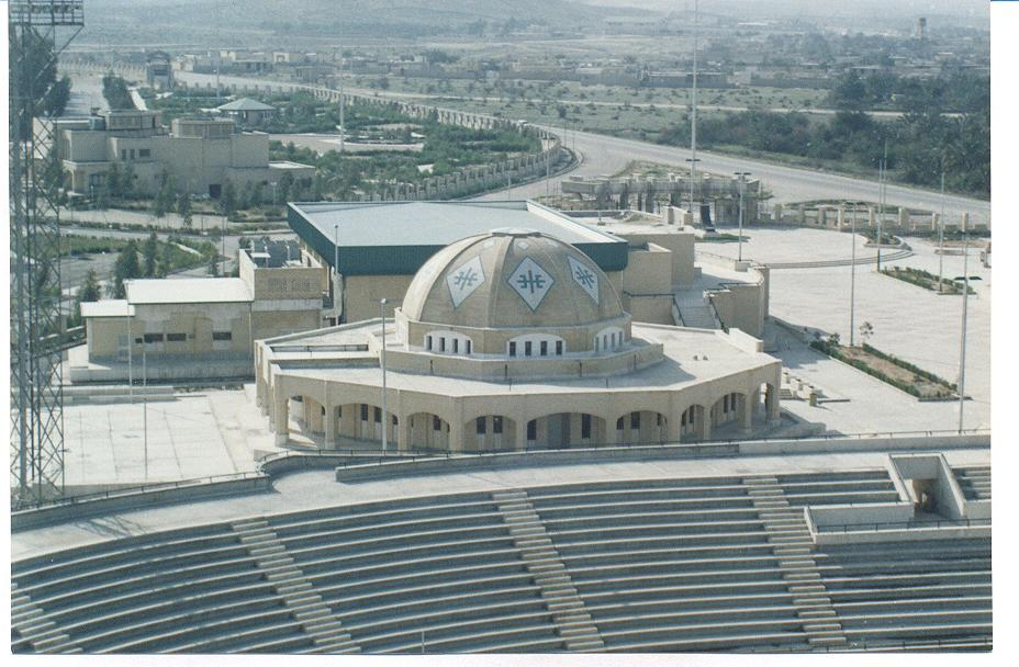 ورزشگاه باستانی و نمای از داخل آن
