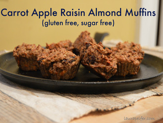 Carrot Apple Almond Muffins