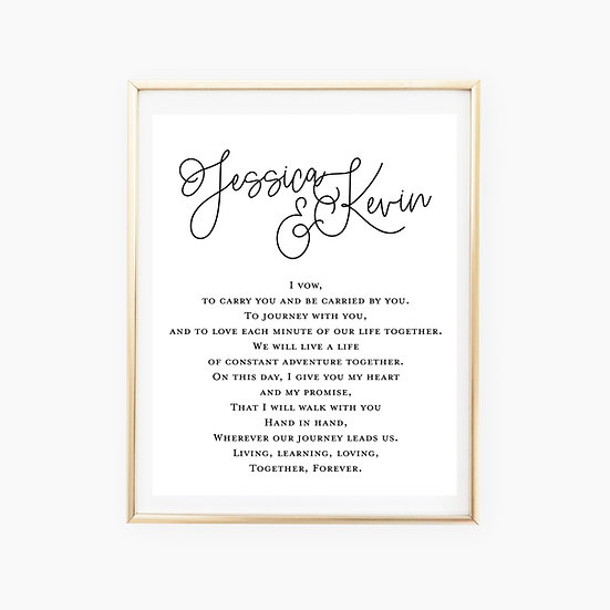 Custom Vows Art Print