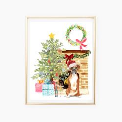 Custom Christmas Dog Print
