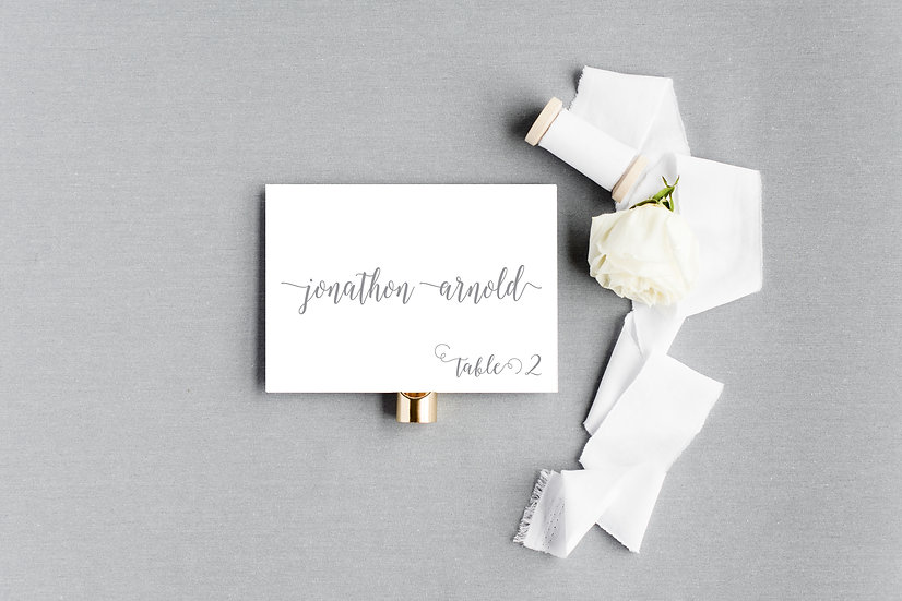 Modern Classic Elegant Calligraphy Escort Cards Place Cards