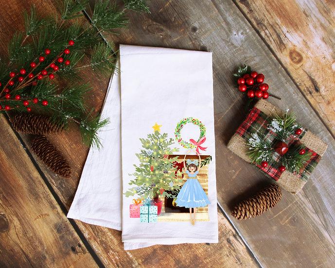 Dancing Doll Christmas Tea Towel