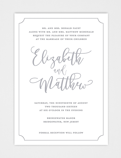 Calligraphy Wedding Invitation, Modern Wedding Invitation, Modern Calligraphy Wedding Invitation