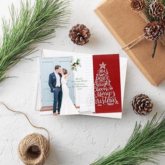 Joy, Peace, Cheer Photo Holiday Card