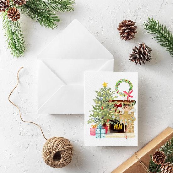 Holiday Ballerina Greeting Card