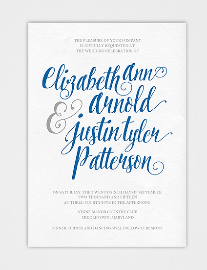 Calligraphy Wedding Invitation, Elegant Wedding Invitation, Modern Wedding Invitation