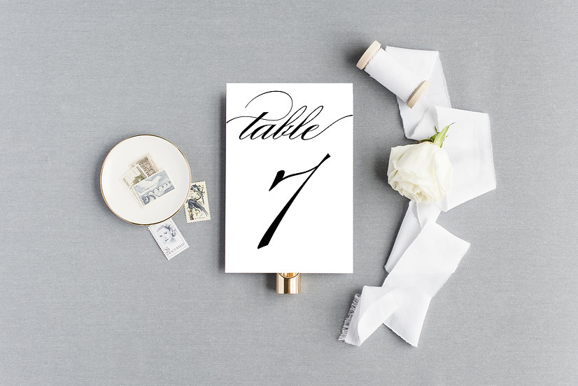 Classic Formal Elegant Table Numbers