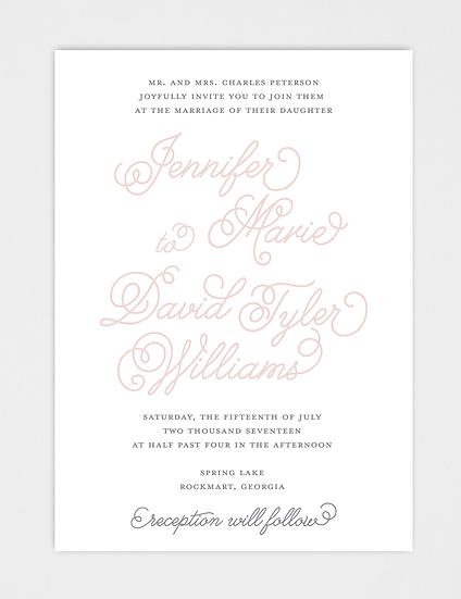 Calligraphy Wedding Invitation, Modern Wedding Invitation, Elegant Wedding Invitation