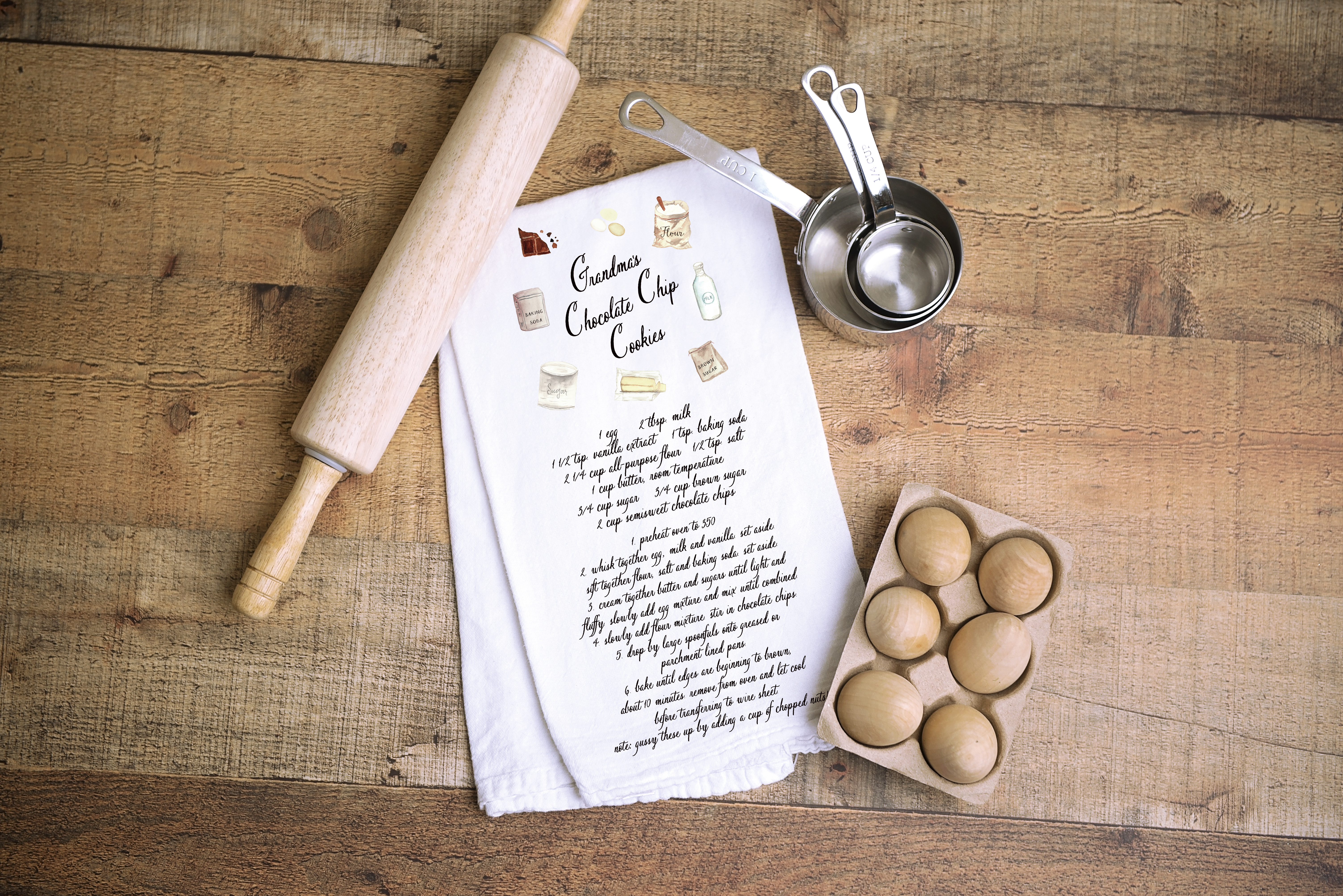 Custom Recipe Tea Towel