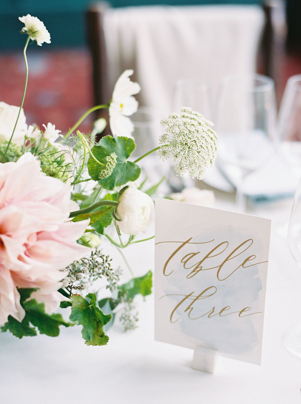 Watercolor Wedding Table Numbers