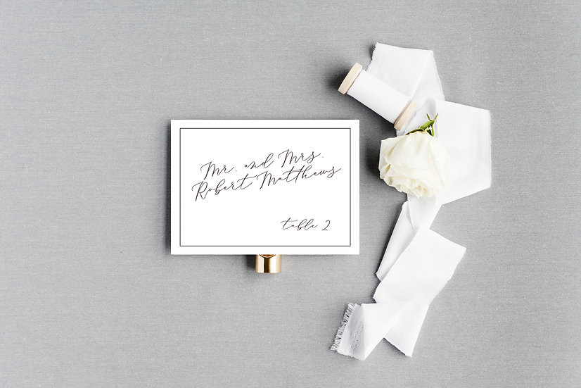 Modern Elegant Classic Calligraphy Escort Cards Place Cards