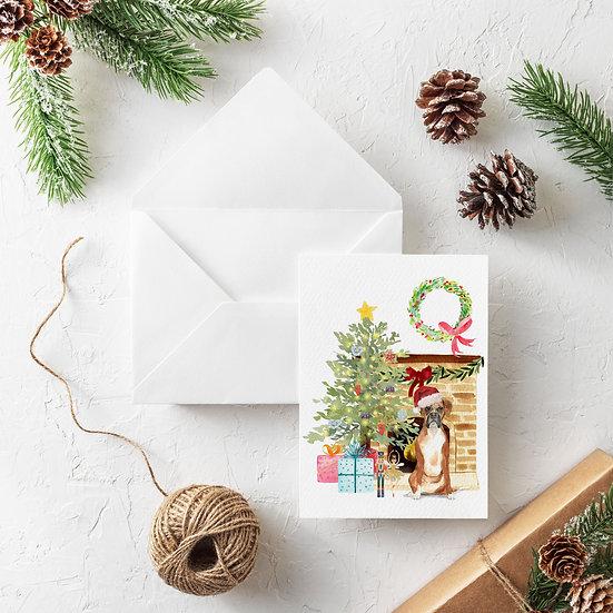 Custom Holiday Dog Greeting Card (choose your pet!)
