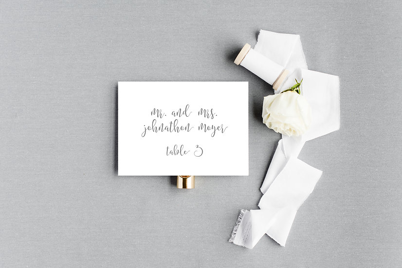 Classic Modern Calligraphy Escort Cards Place Cards
