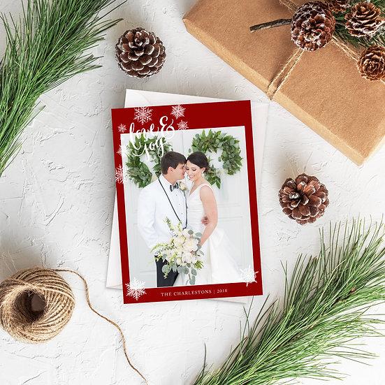 Love & Joy Photo Holiday Card