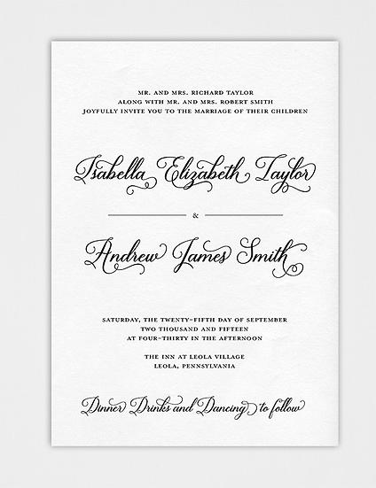 Calligraphy Wedding Invitation, Elegant Wedding Invitation, Modern Wedding Invitation