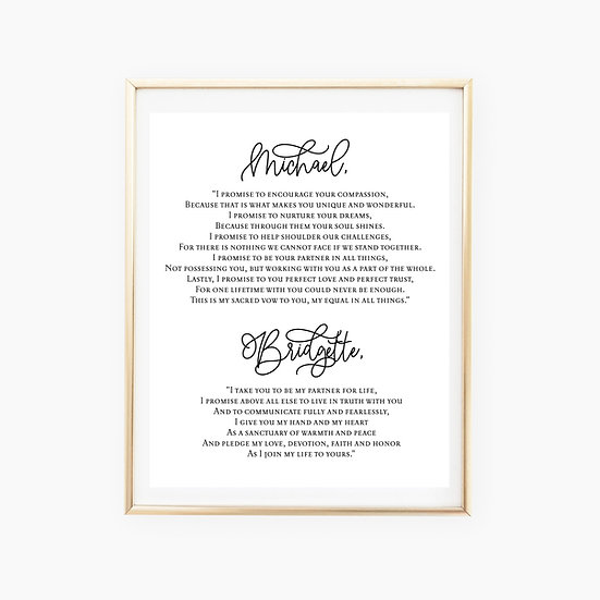 Custom Vows Art Print