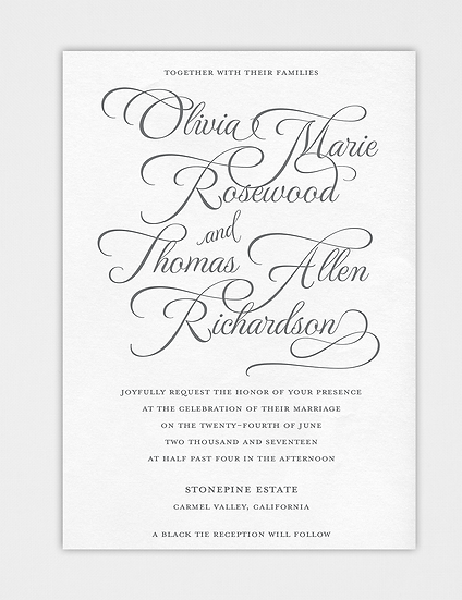 Calligraphy Wedding Invitation, Modern Wedding Invitation, Elegant Wedding Invitation, Classic Wedding Invitation
