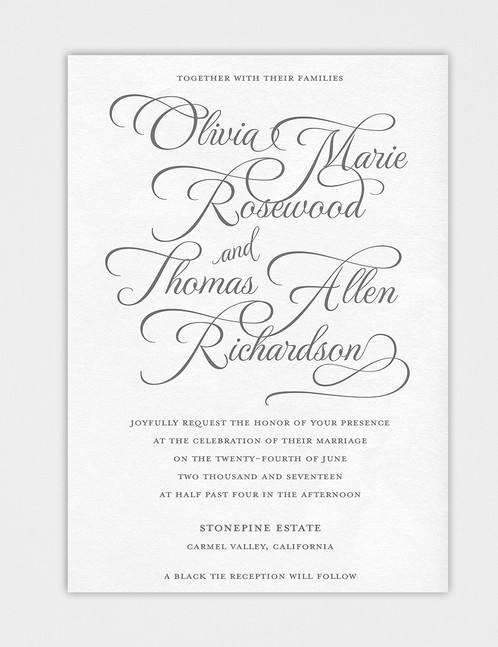 Introducing Design Number Two Of Our New Elegant Script Invitation Designs