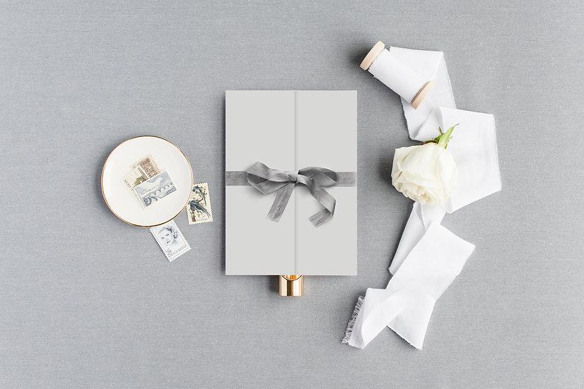 Invitation Pocket with Silk Ribbon