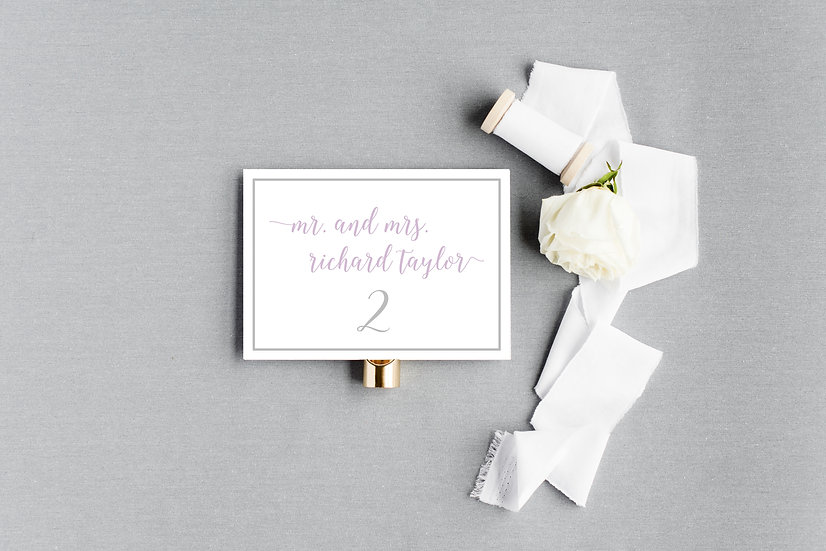Simple Plain Elegant Modern Escort Cards Place Cards