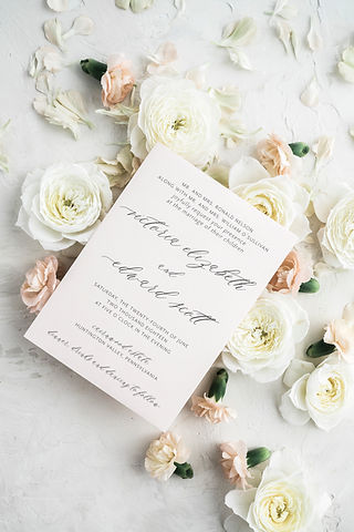Modern Calligrahy Wedding Invitation