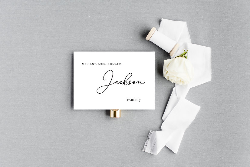 Modern Calligraphy Escort Cards Place Cards