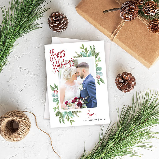 Happy Holidays Photo Card
