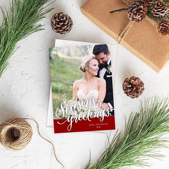 Season's Greetings Photo Holiday Card