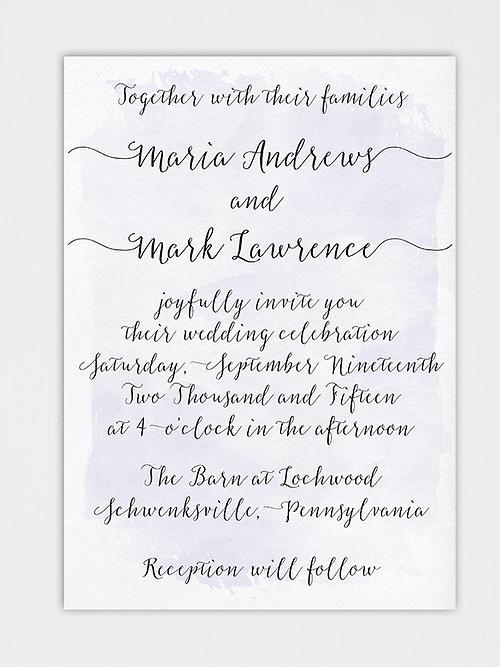 Simply paper company custom wedding invitations stationery handwritten brush script wedding invitation suite stopboris Image collections