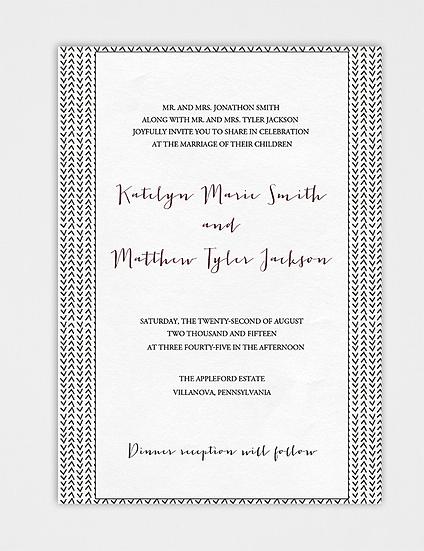 Modern Wedding Invitation, Calligraphy Wedding Invitation