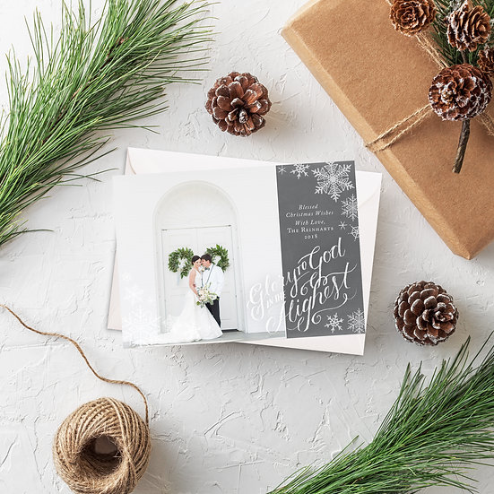 Glory to God Photo Holiday Card