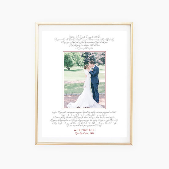 Custom Vows Photo Art Print