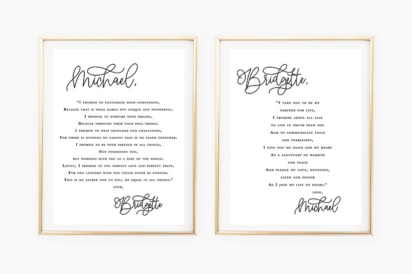 Custom Vows Double Art Print