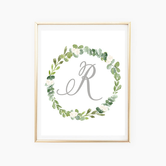 Custom Wreath Art Print