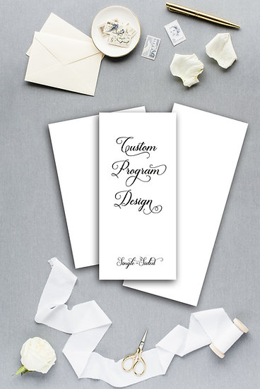 Custom Design Wedding Program Ceremony Program