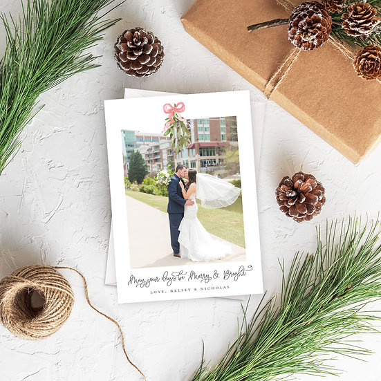 Merry Mistletoe Photo Card