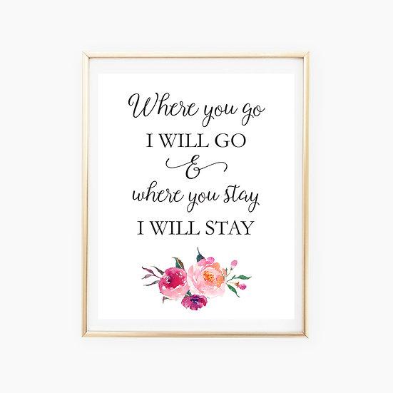 """""""Wherever You Go"""" Art Print"""