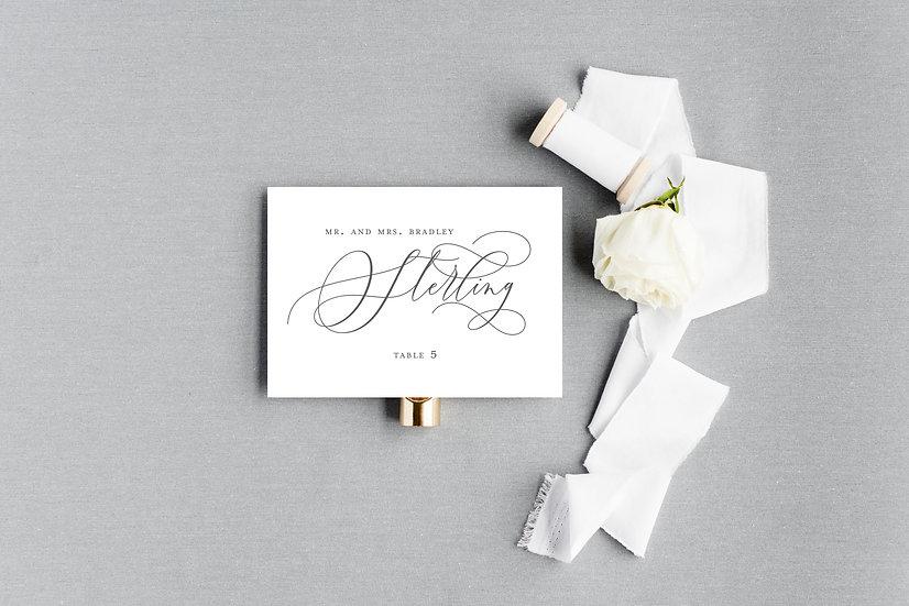 Modern Classic Elegant Calligraphy Script Escort Cards Place Cards